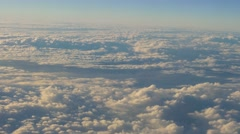 Flight abobe spectacluar clouds, travelling by air Stock Footage