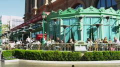 Outdoor CafÈ at the Hotel Paris Stock Footage