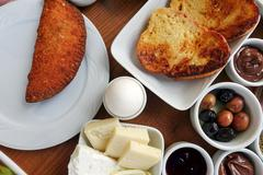 Traditional Rich Turkish Breakfast Stock Photos