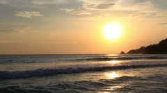 Sunset at Kalim beach,Phuket. Stock Footage