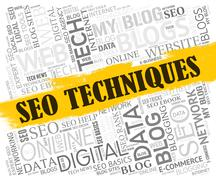 Seo Techniques Meaning Search Engines And Tactics Stock Illustration