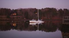 Yacht at Royal River Stock Footage
