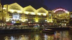 Restaurants at Clark Quay - stock footage