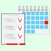 Deadline of daily work concept flat vector - stock illustration