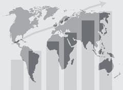 Global world development graphic - stock illustration