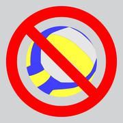 Prohibition to play with the ball volleyball Stock Illustration
