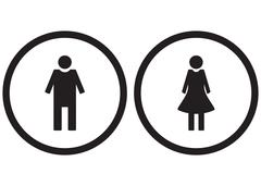 Icon set gender male and female - stock illustration