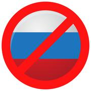 Russian ban icon isolated - stock illustration