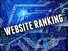 Website Ranking Indicating Internet Optimizing And Seo - stock illustration