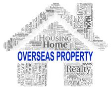 Overseas Property Indicating Abroad House And Homes - stock illustration