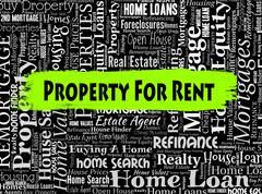 Property For Rent Representing Real Estate And Habitation Stock Illustration