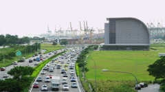 Traffic on ECP (East Coast Parkway) Stock Footage