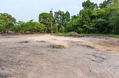 Dry field ground Stock Photos