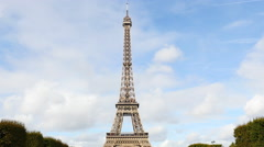 Zoom Out - The Eiffel Tower Daytime-  Paris France Stock Footage