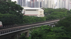 MRT Line with Residential Buildings Stock Footage
