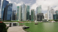 Buildings of Raffles Place Stock Footage