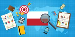 polandia polish economy economic condition country - stock illustration