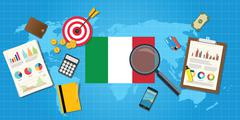 Italy economy economic condition country Stock Illustration