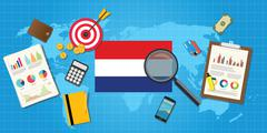holland netherland economy economic condition country - stock illustration