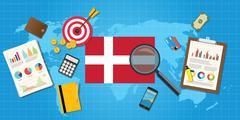 Denmark economy economic condition country Stock Illustration