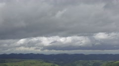 High speed clouds over Carpathian mountains. 4K UHD timelapse. Stock Footage