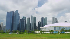 Newly Constructed Financial Center Stock Footage