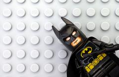 Lego Batman on gray baseplate Kuvituskuvat