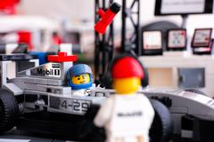 Lego McLaren Mercedes MP4-29 race car with driver - stock photo