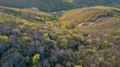 Aerial View of Beautiful Sunset Mines in the Forest in Aida, Bulgaria Stock Footage