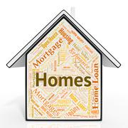 Homes House Representing For Sale And Residence Stock Illustration