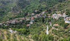 Mountain Village resort of Askas Cyprus - stock photo