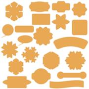 Set of Commercial Stickers Badges and Elements. - stock illustration