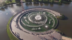 Tsaritsino park garden architecture from above. In the heart of Moscow Russia, S Stock Footage