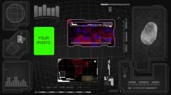 Worldwide - Scanning data - interface morphing - fingerprint searching - grey - stock footage