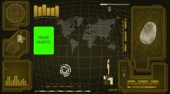Worldwide - Scanning data - interface morphing - fingerprint searching - yell - stock footage