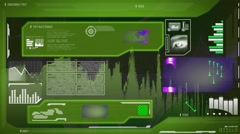 Eye Scan - High Technology layout - map searching - information gathering - d Stock Footage