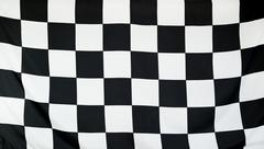 Finish Race Flag real fabric Stock Photos