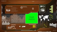 Eye Scan - High Technology layout - map searching - information gathering - d - stock footage