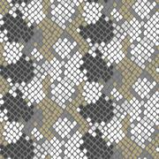 Python snake skin artificial seamless vector texture - stock illustration