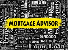 Mortgage Advisor Meaning Ownership Mortgages And Residential Stock Illustration