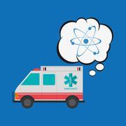 Medical care design. Health care icon. Flat illustration, vector Stock Illustration