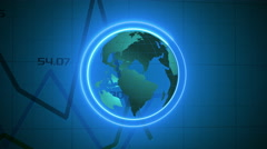 Global business corporate financial data and charts showing rising profits - stock footage
