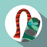 Winter design. Season icon. Colorfull illustration, vector graph - stock illustration