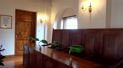 Interior in the old Town Hall of St. George's Town, Bermuda. - stock footage
