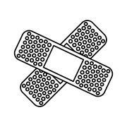 Adhesive medical bandage , vector Stock Illustration