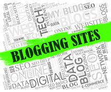 Blogging Sites Meaning Internet Network And Web Stock Illustration