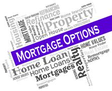 Mortgage Options Showing Real Estate And Choosing Stock Illustration