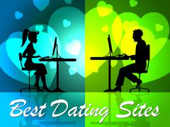 Best Dating Sites Indicating Better Excellence And Winners Stock Illustration
