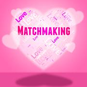 Matchmaking Heart Representing Blind Date And Matchmake Stock Illustration