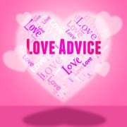 Love Advice Showing Tips Guidance And Lovers - stock illustration